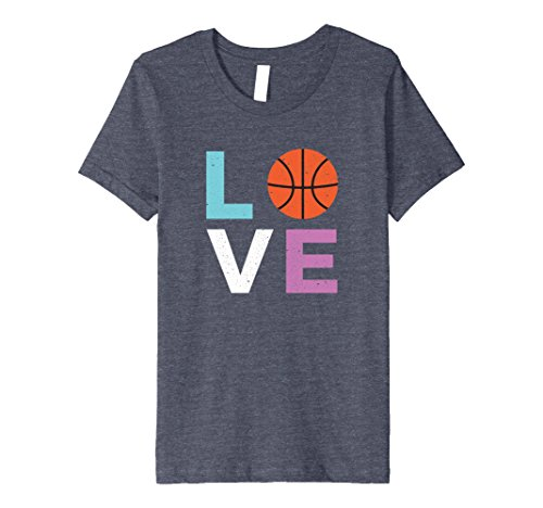 Kids Basketball t shirt for Girls 6 Heather Blue