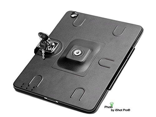 8 G9 Pedestal (iPad Air 1 Tripod Mount Metal Case - G9 Pro® Model (For iPad Air) with Built-in Keyed Security Lock by iShot Pro® Mounts - Adapter - Holder - Attachment - iPad Air Case High Quality *All Metal* - Easily and Safely Mount Your iPad Air 1 to Any 1/4 20 Standard Camera Tripod, Light Stand or Music Stand You Already Use - Made in the U.S.A - Easy to use and Great for All)