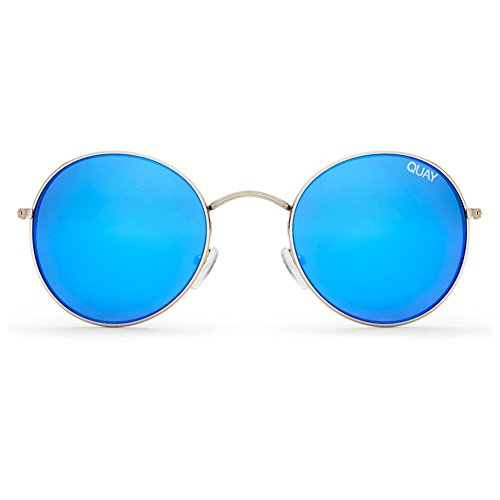 Quay Mod Star Sunglasses | Rounded Frames - Mirror Lens | UV - Quay Sunglasses Needing Fame