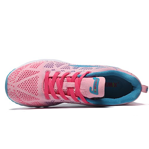 Uomo Sportive Ginnastica Sneakers Rosa Running da Scarpe Donna 3 Corsa ONEMIX Fitness 1qwxgg