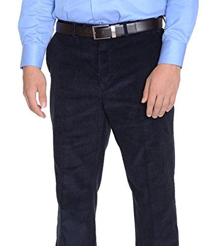 Navy Corduroy Trousers - 7