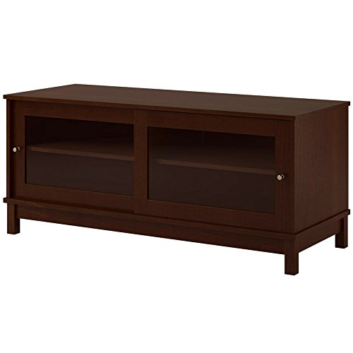 Sliding Door Multimedia Stand - Multi Media TV Stand with Glass Sliding Doors and Adjustable Shelves Modern Cherry Brown Large 55 Inch 4 Tier Cabinet with Wire Management Wooden TV Stand eBook by Easy&FunDeals