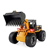 TES TOYS Remote Control Excavator Construction Tractor, Boldozer Toy with 2.4Ghz Transmitter