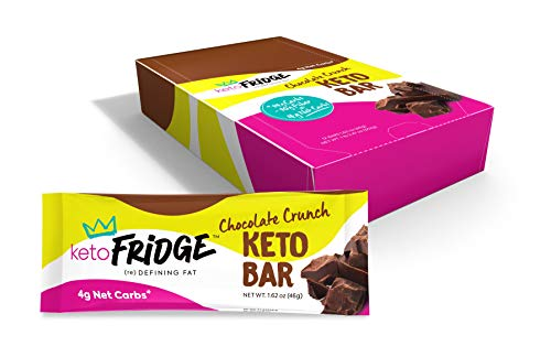 Keto Fridge Chocolate Crunch Keto Bar – 4 Net Carbs, Low Glycemic, Low Carb, NO Sugar Added – Keto Snack (12 Count)