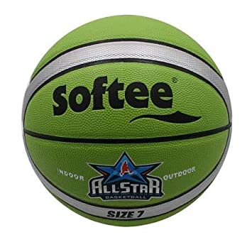 Balon Baloncesto Cuero Softee All Star - Talla 7 - Color Verde Y ...