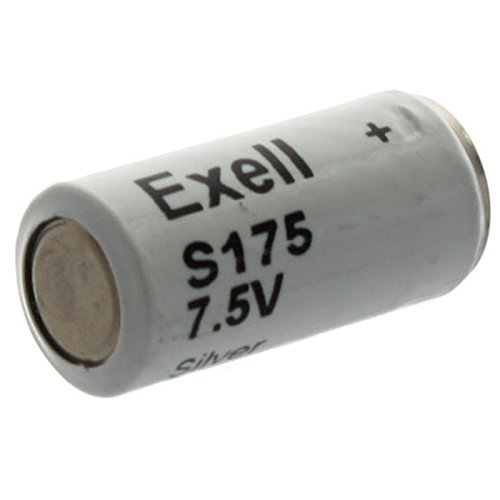 Exell Battery S175 Silver Oxide 7.5V Battery TR175S, MN175, A175, ()