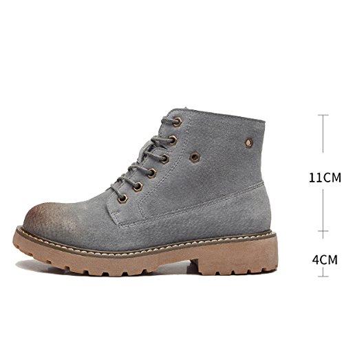 Große 39 Lace Stiefeletten Schuhe Größe 35 up Neue Retro Modische Damen Flache Frauen WJNKK Freizeit xa6nSq