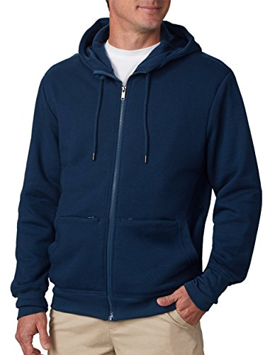 SCOTTeVEST Hoodie Cotton - Sweatshirts for Men with Pockets - Travel Clothing (NVY, XXL)