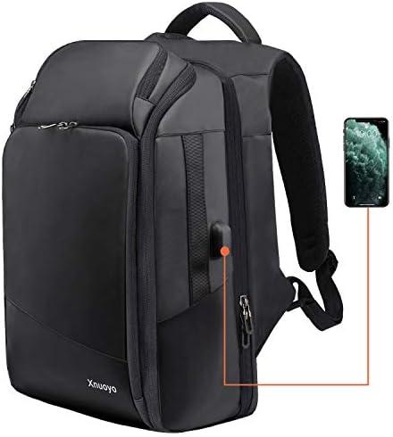 Xnuoyo Wasserdicht Laptop Rucksack 15.6 Zoll, TSA-Friendly Multifunktion Business Rucksack Notebook Großer Daypack mit USB Ladeanschluss für Arbeit Reisen Schule Frau Männer