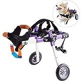 Apstour Dog Wheelchair Pet Hip Joint Care Wheelchair 10inch Wheel 2 Wheels Cart for Hind Legs Rehabilitation,Pet Wheelchair, Hind Legs Rehabilitation,Dog Cart