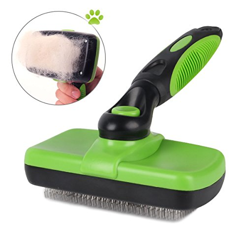 Pet Grooming Brush-Self Cleaning Slicker Brushes for Dogs and Cats