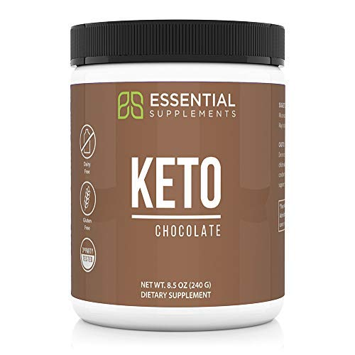 Essential Supplements® Exogenous Ketones Keto BHB Chocolate Powder for Ketogenic Diet | Supports Weight Loss, Energy, Focus and Ketosis | Beta-Hydroxybutyrate Ketone Supplement