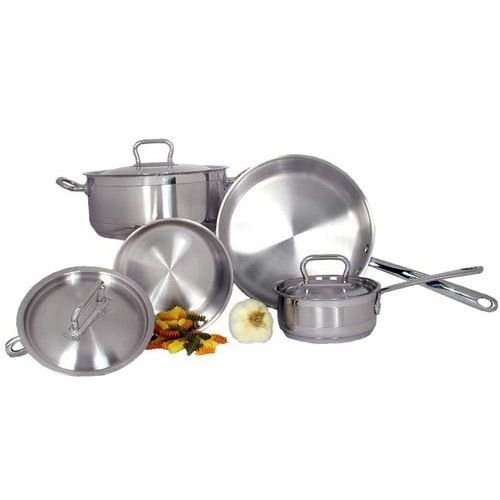 Adcraft SXS-7PC Stainless Steel Deluxe 7 Piece Cookware Set