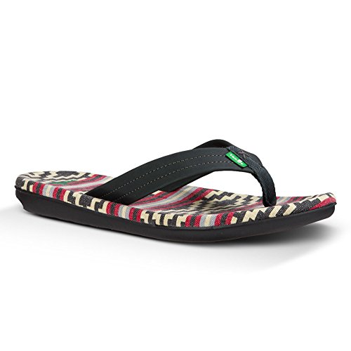 Sanük Planer TX Shoes Men Gaucho Blanket Black Red 2016 Flip flops Gaucho