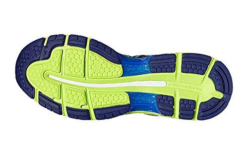 Chaussure De Course Asics Gel Nimbus 19 Bleu Et Jaune Asics