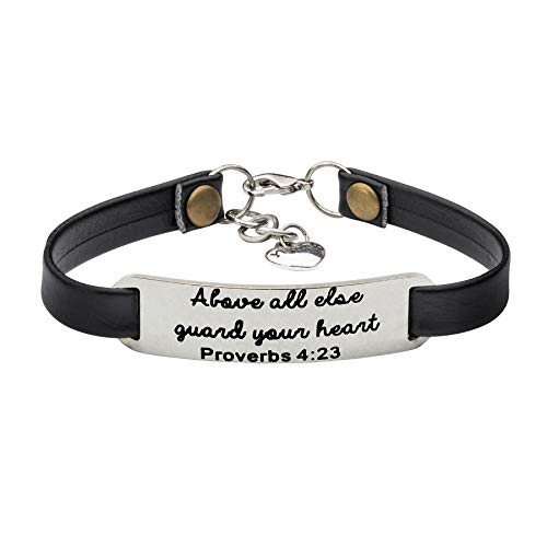 - UNQJRY Bracelet for Girls Inspirational Christian Gifts for Her Above All Else Guard Your Heart