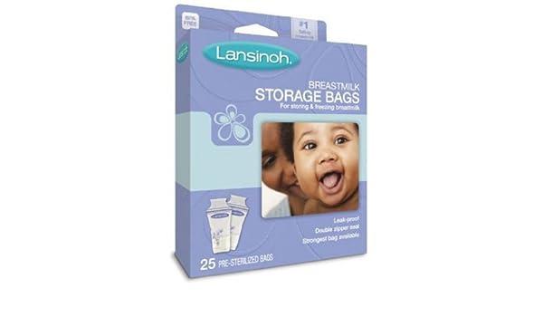Lansinoh 20435 leche materna bolsas de almacenamiento, 25 ...