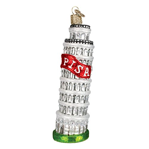 World Tower (Old World Christmas Ornaments: Leaning Tower Of Pisa Glass Blown Ornaments for Christmas Tree)