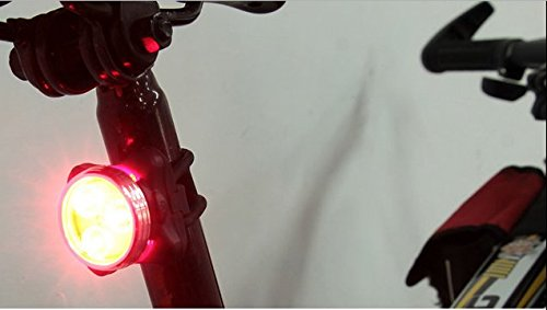 E-Bro USB Rechargeable Bike Cycling Bicycle Front Head Light Lamp Rear Tail Flash Light Waterproof Warning 3 LED Sport Lighting (Red) -  WD-05