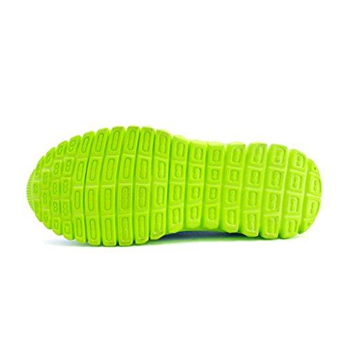 Eagsouni® Unisex-niños Malla transpirable velcro/Zapatos del ocio/Peso ligero transpirables zapatillas Azul