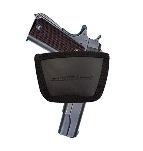 Garrison Grip Leather Inside and Outside Waistband Easy Slide Holster Fits 1911 All Models (SLH) Black (Best 1911 Slide Stop)