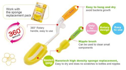 Simba Baby Rotary Spinning Bottle and Nipple Brush set (BPA Free)