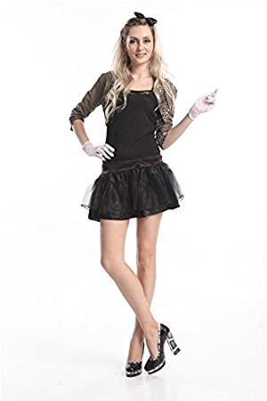 dcfb062bfe1c 4S Madonna 80s Fancy Dress Costume Outfit Size Large UK 12-14 ...