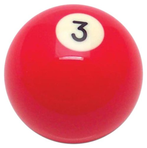 American Shifter 96048 Solid Red 3 Ball Billiard Pool Shift Knob