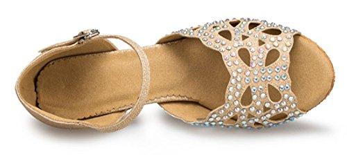 Tda Dames Mary Janes Gesp Uitgesneden Kristal Mode Latin Moderne Dans Avond Trouwschoenen Goud