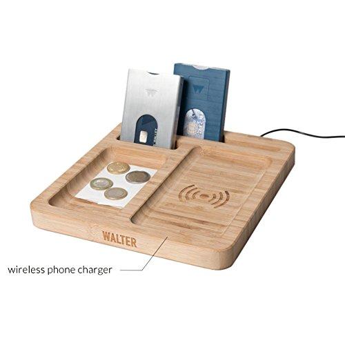 Bamboo Wireless Charging & Organizing Dock