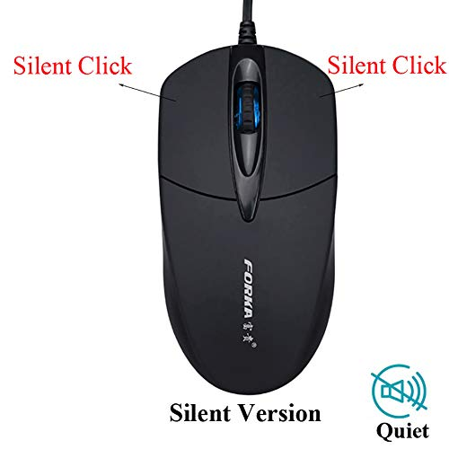 - yunbox299 Wired Mouse Mice, V9 Ergonomic Silent Click 1200DPI 3 Buttons Optical Office Home USB Wired Mouse No Sound