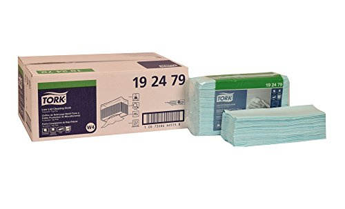 Tork 192479 Low-Lint Cleaning Cloth, Top-Pak, 1-Ply, 13.5'' Width x 16.4'' Length, Turquoise (Case of 5 Packs, 100 per Pack, 500 Wipers per Case) Can be used with Tork 207328, 654021 or 6540281 by Tork