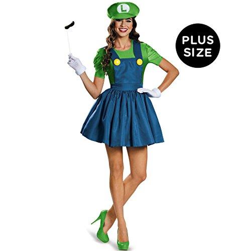 Disguise Women's Luigi Skirt Version Adult Costume, Multi, X-Large
