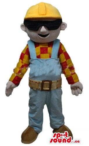 Bob Builder cartoon character SpotSound Mascot US costume