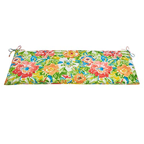 BrylaneHome Outdoor Bench Cushion – Bronwood Carnival
