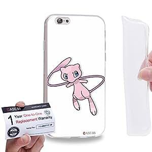 """Case88 [Apple iPhone 6 / 6s (4.7"""")] Gel TPU Carcasa/Funda & Tarjeta de garantía - Pokemon Pokemon Mew 0563"""