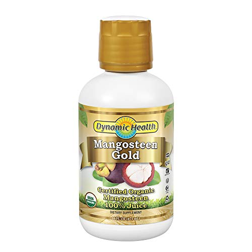 Dynamic Health Mangosteen Gold Juice, 16 Oz. (Pack of 12)