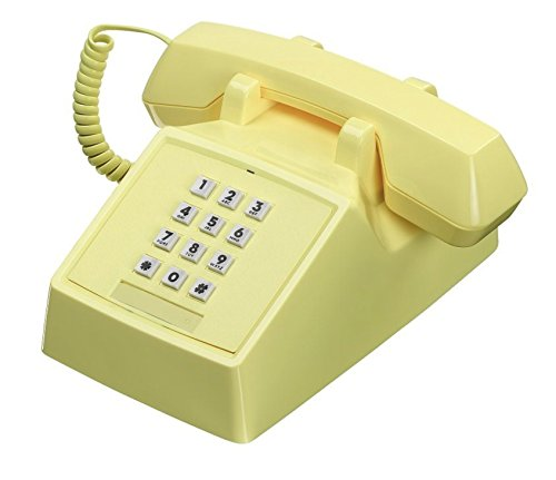 Wild Wood 2500 Classic Retro Landline Phone, Lemon Sorbet by Wildwood
