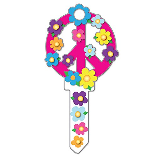 Lucky Line Key Shapes, Peace Sign, House Key Blank, WR5, 1 Key (B104W) by Lucky Line