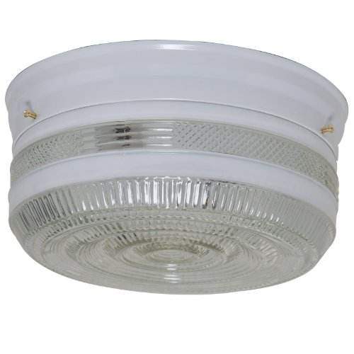 (Boston Harbor F15WH02-10043L 7022049 Dimmable Ceiling Light Fixture, (2) 60/13 W Medium A19/Cfl Lamp, White )