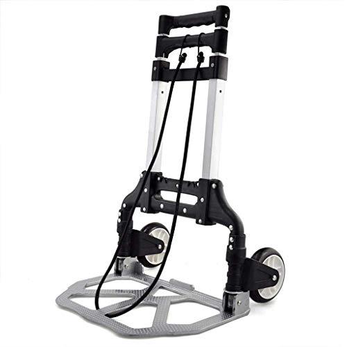 Zmsdt Carretilla Plegable De Aluminio De 80kg para Trekking Al Aire Libre, Compras, Compañía, Carretillas Resistentes De...