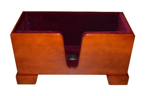 Vio Music Upright Double Bass Wooden Stand Burgundy Velvet Plush Cushions by Vio Music