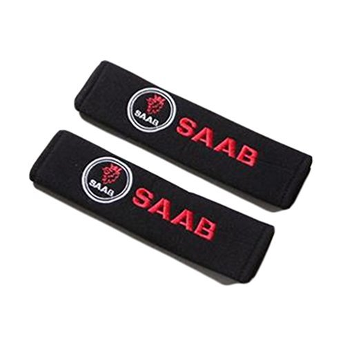 Summer6688 Car Safety Seat Belt Shoulder Comfortable Pads Covers Cushion For Saab