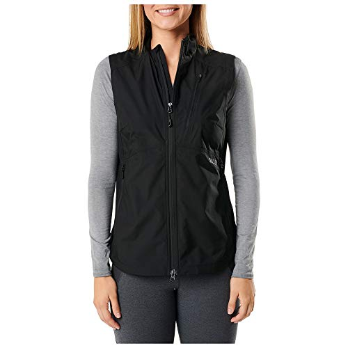 5.11 Tactical 65001019XL Chaleco rompevientos Cascadia para mujer Negro, X-Large