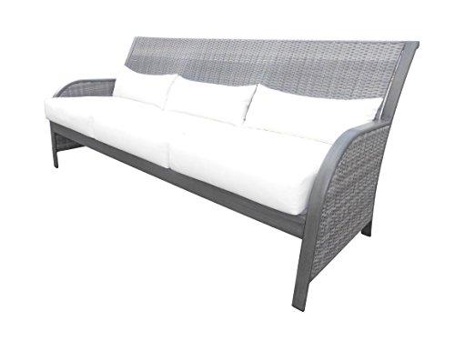 Panama Jack PJO-1501-GRY-S Newport Beach Sofa, Grey (Newport Beach Patio Furniture)