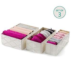 Drawer Organizer Clothing Collapsible, Set of 3 (Galliana)