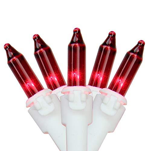 Northlight Set of 100 Red Mini Christmas Lights 2.5