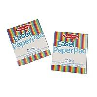 Almohadilla de papel Melissa y Doug Easel (Almohadilla de encuadernación superior, papel de calidad superior en blanco, paquete de 2 con 50 hojas, 17 × 20 pulgadas)