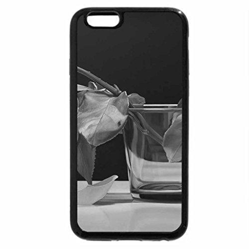iPhone 6S Plus Case, iPhone 6 Plus Case (Black & White) - Wilted Rose