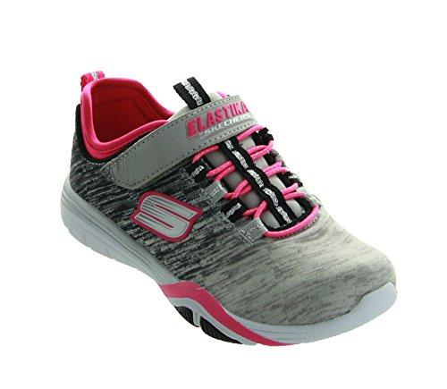 Skechers Girls' Stella Sporty Spice Sneaker,Gray/Black,US 2 M